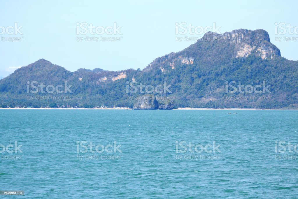 Coast and beach in Surat Thani stock photo