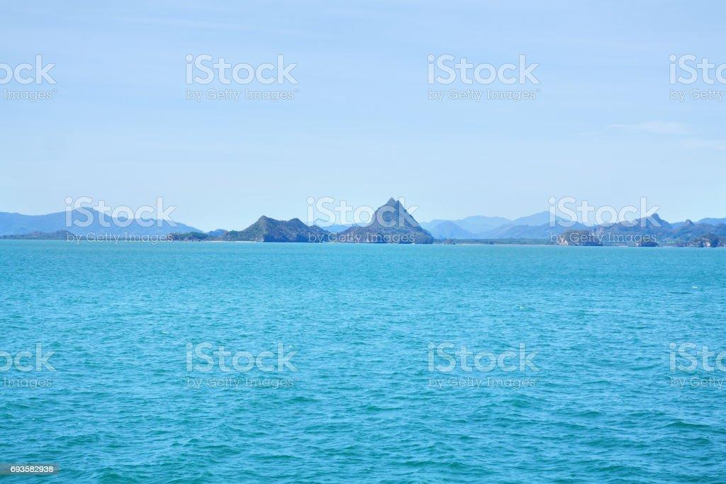 Coast and landscape of Surat Thani stock photo