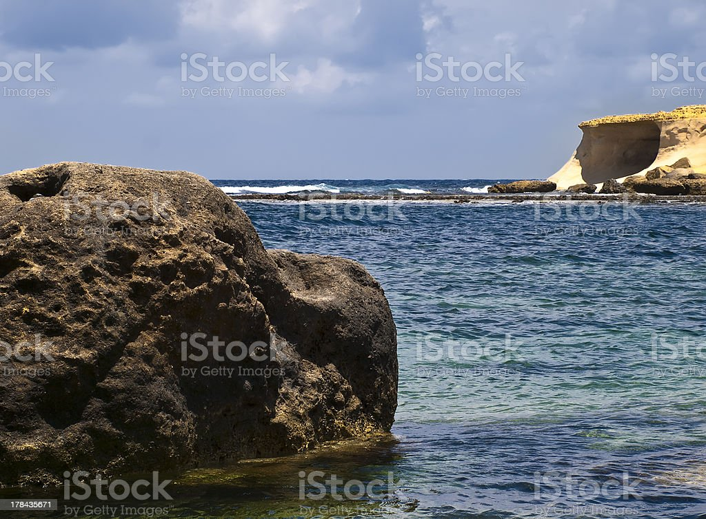 Coast and Rock royalty-free stock photo