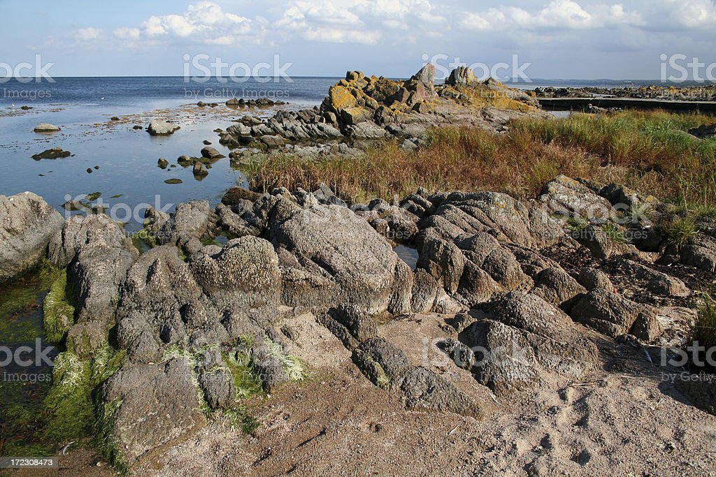 Coast at Bornholm. royalty-free stock photo