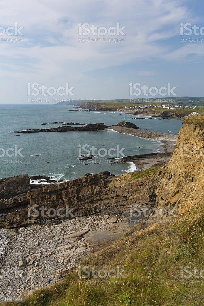 Coast at Bude North Cornwall stock photo