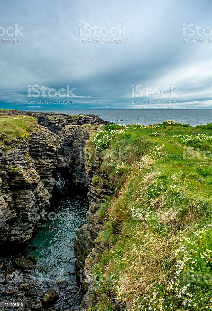 Coast at Hook Head near Waterford in Ireland stock photo