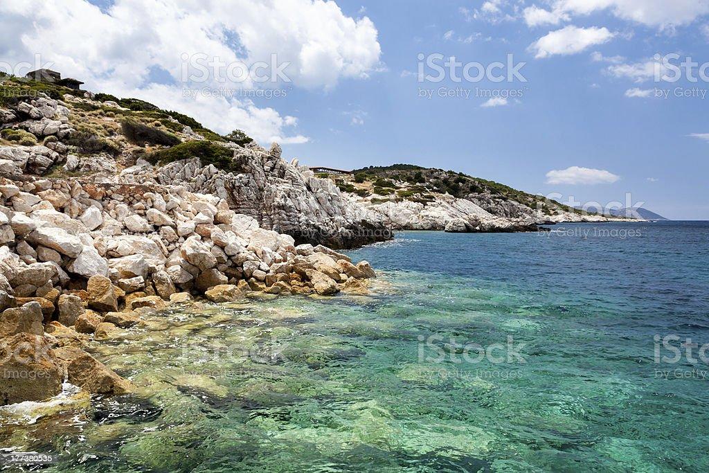 Côte à Kamiros – Configuration Skála photo libre de droits