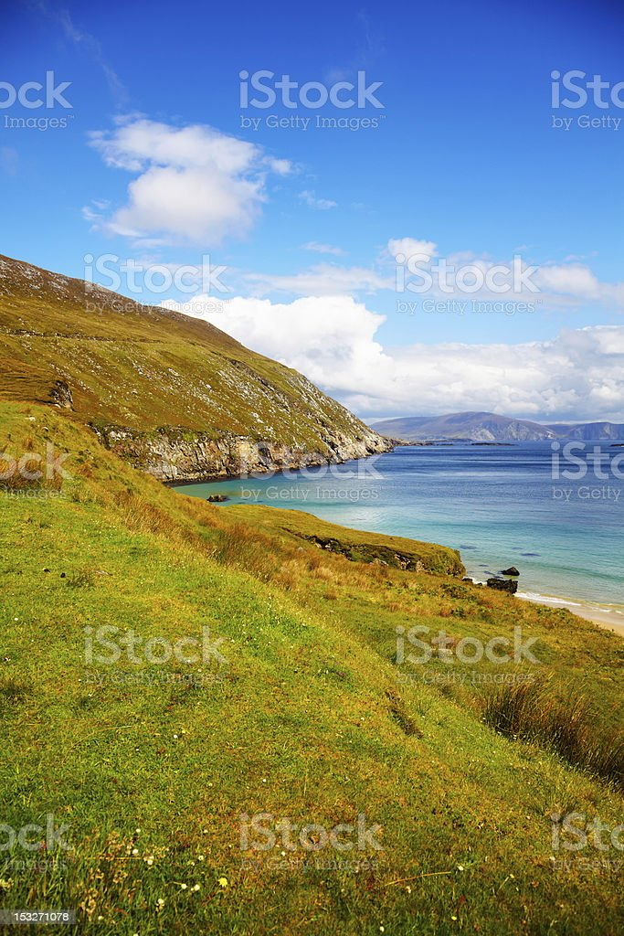 Coast at Keem Bay on Achill Island stock photo