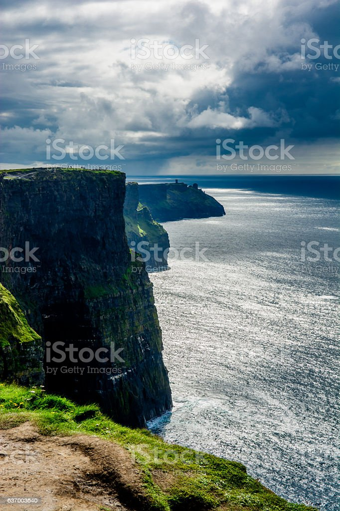 Coast at the Cliffs Of Moher In Ireland stock photo