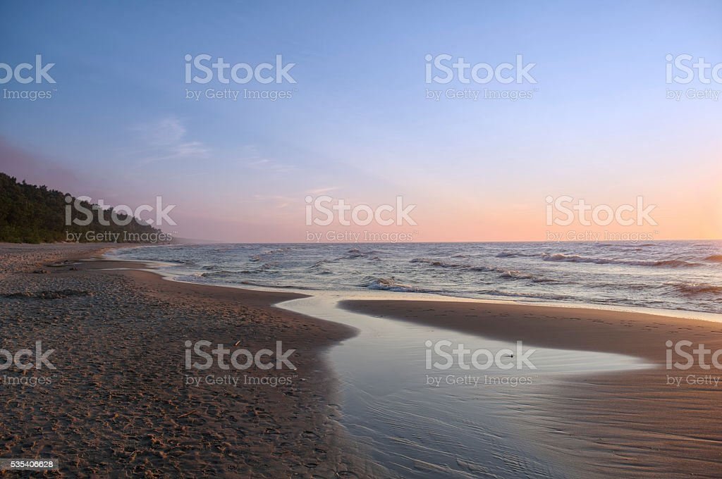 Coast Baltic Sea - Sunset stock photo