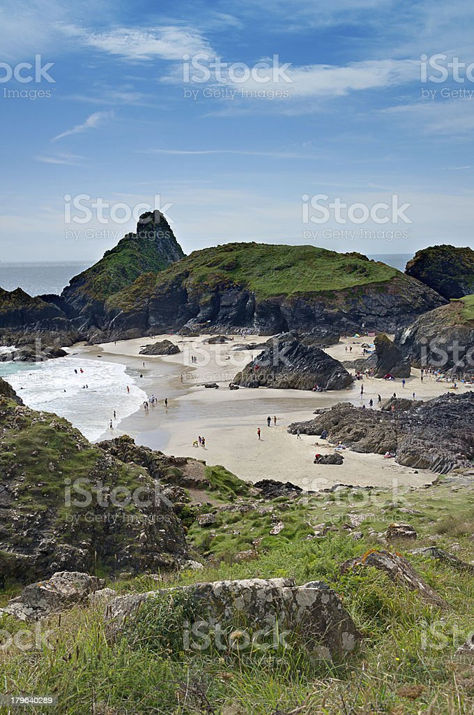 Coast Beach and bay at Kynance Cove Cornwall England royalty-free stock photo
