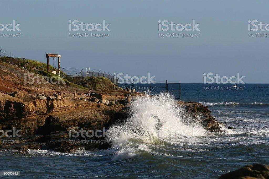 Coast Border Wave Crash royalty-free stock photo