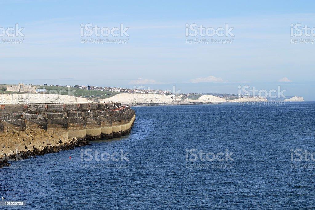 Coast by Brighton Marina. Sussex. England royalty-free stock photo