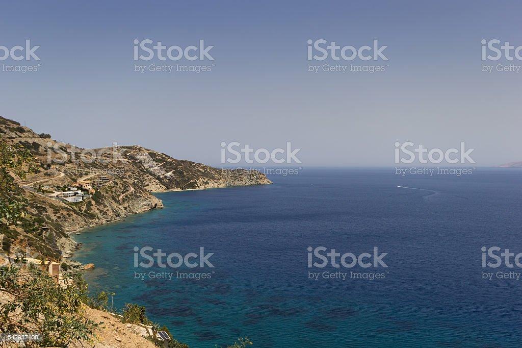 Coast capital Heraklion Crete stock photo