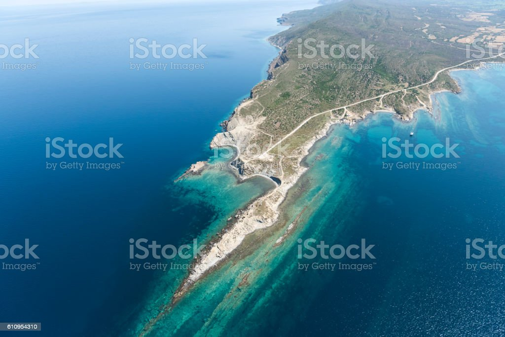 coast formations stock photo