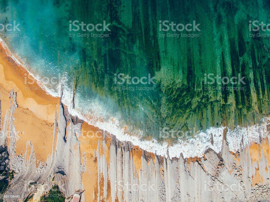 Coast from above stock photo