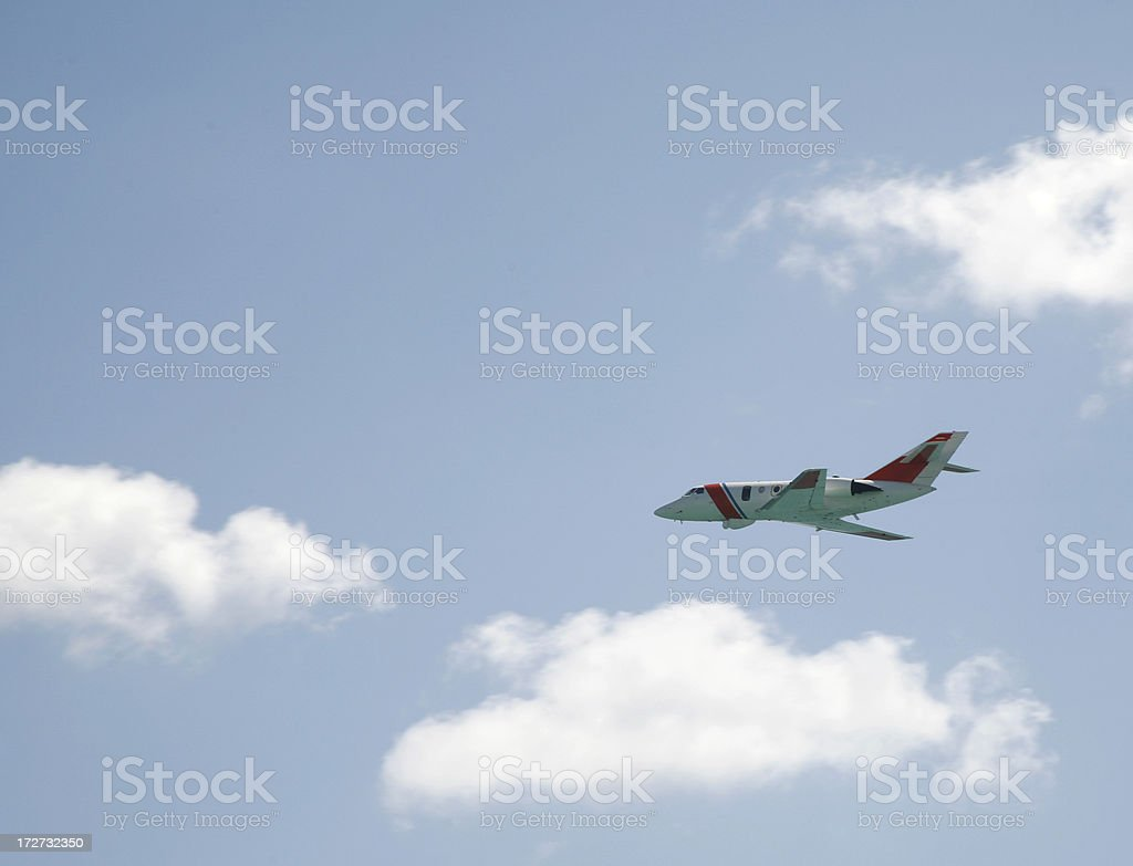 Coast Guard airplane stock photo