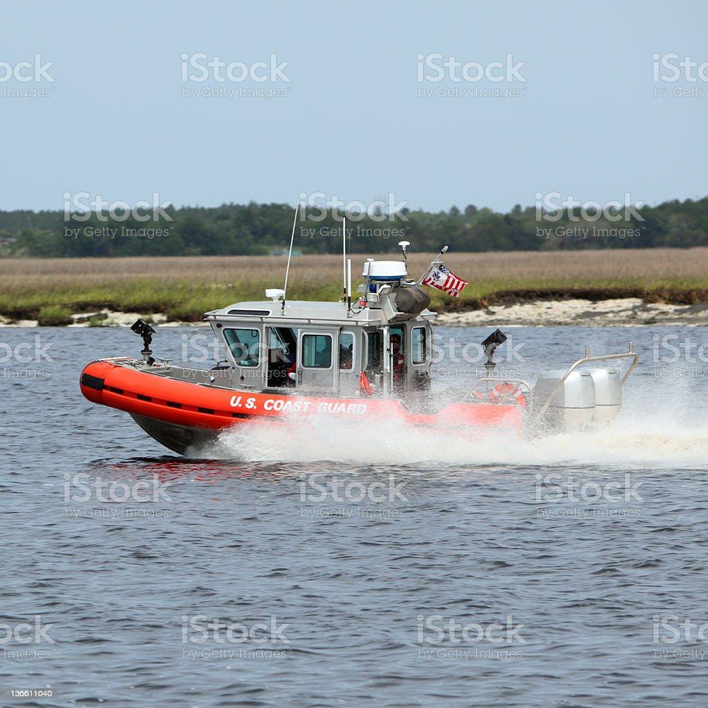 U.S. Coast Guard Boat royalty-free stock photo