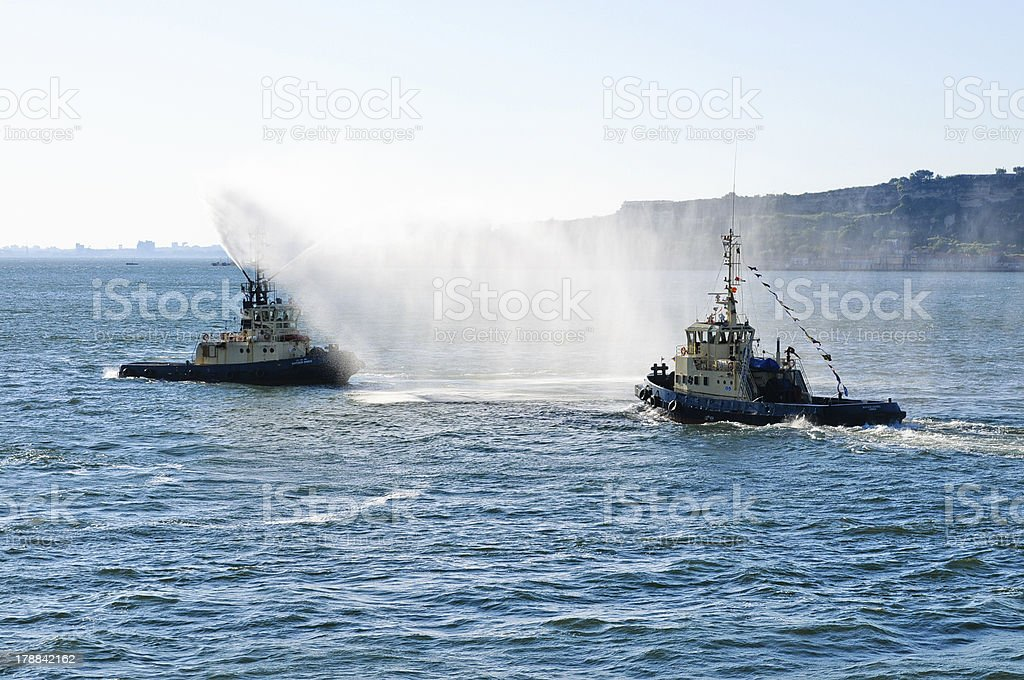 Coast guard boats royalty-free stock photo