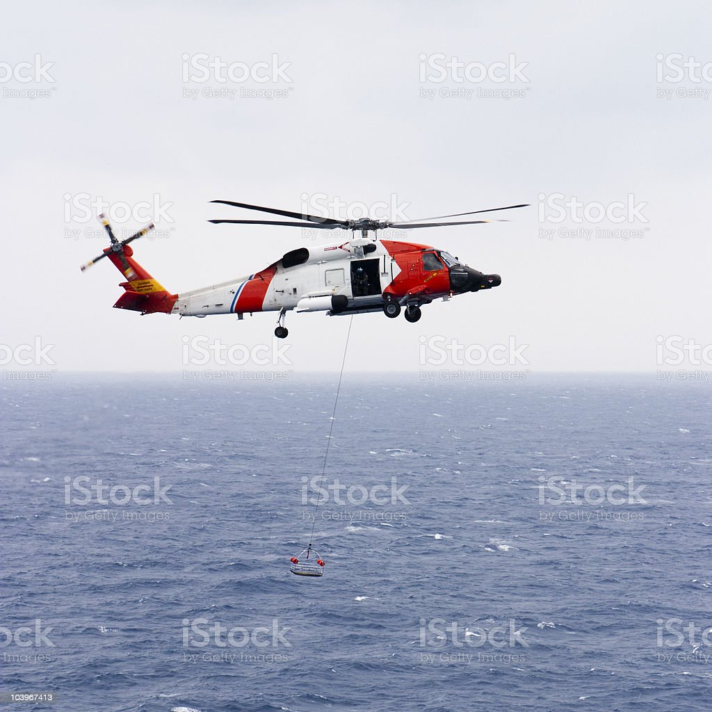 Coast Guard Helicopter stock photo