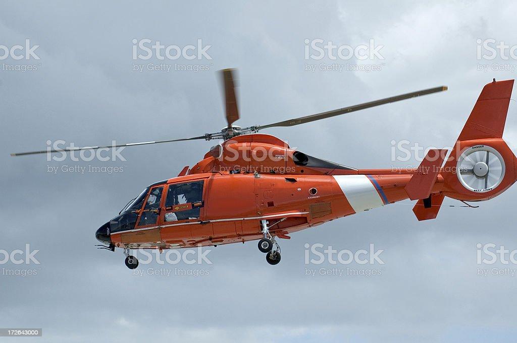 Guardia costiera elicottero foto stock royalty-free