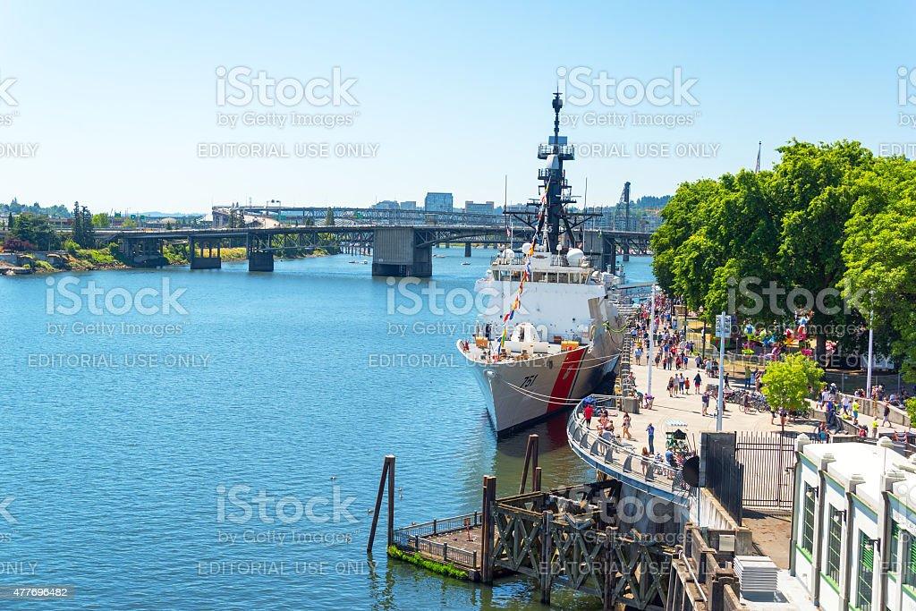 Coast Guard in Portland, Oregon stock photo