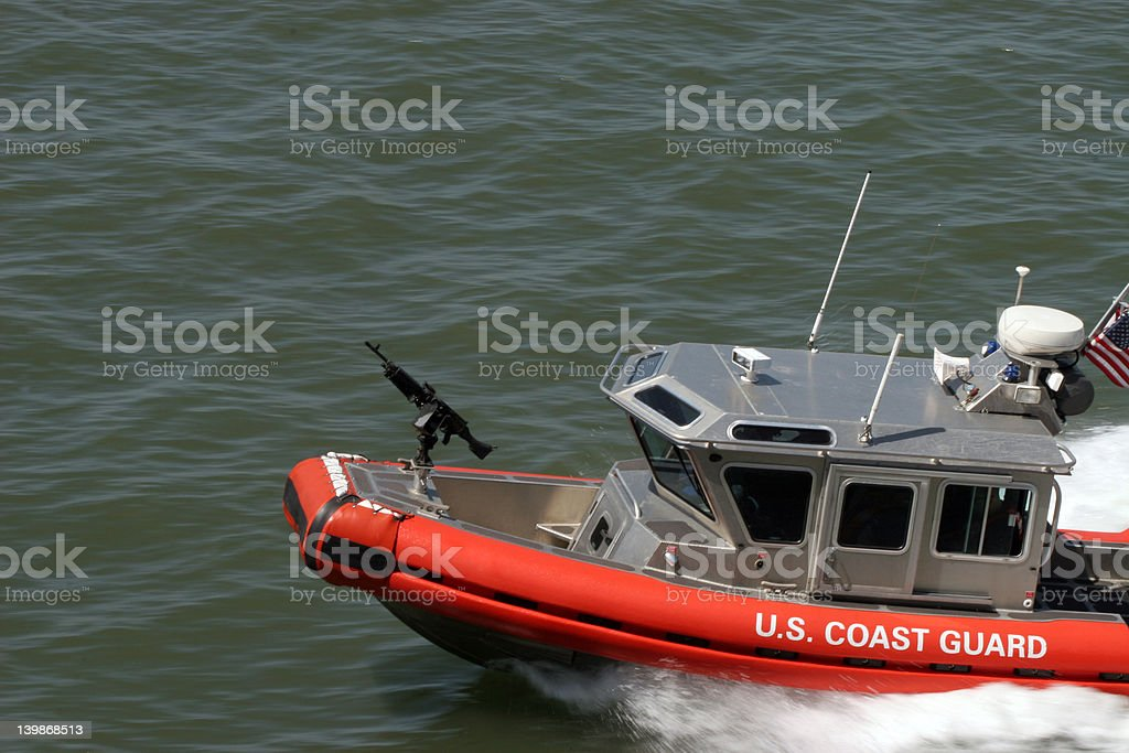 US Coast Guard patrol boat royalty-free stock photo