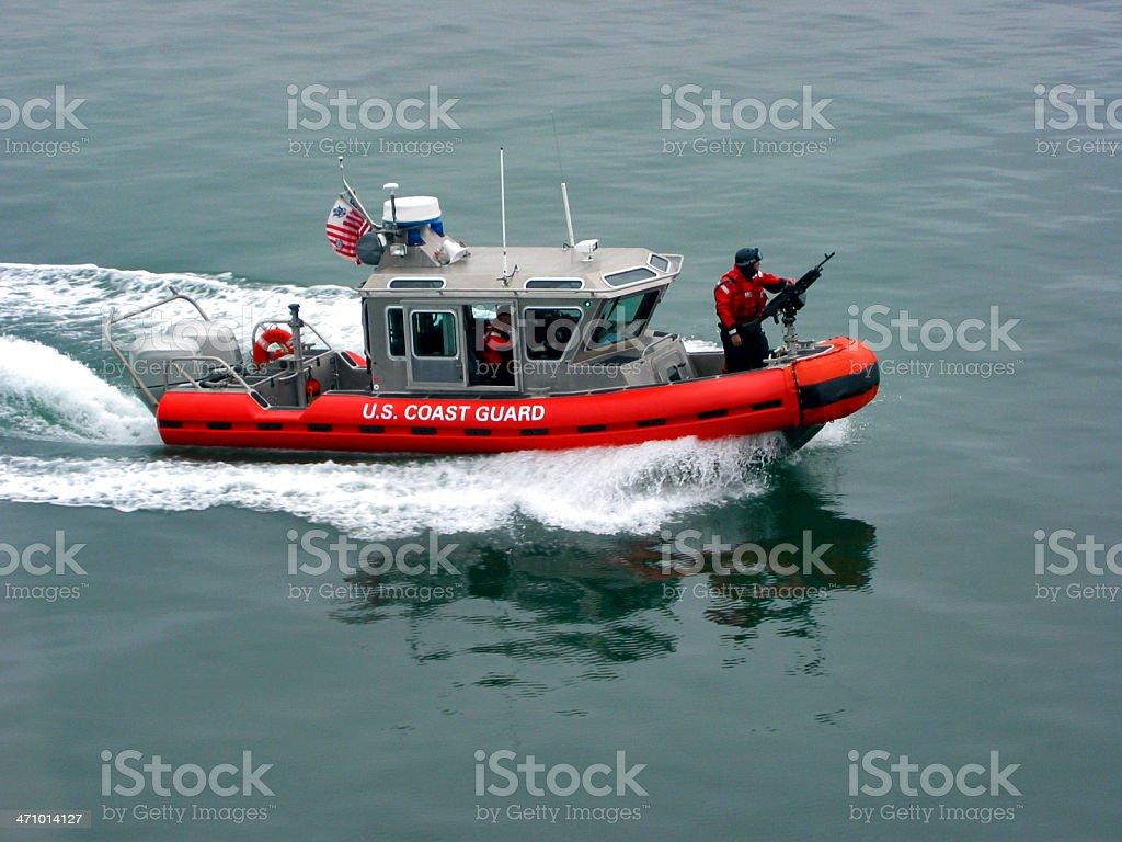 U.S. Coast Guard Patrol Boat stock photo