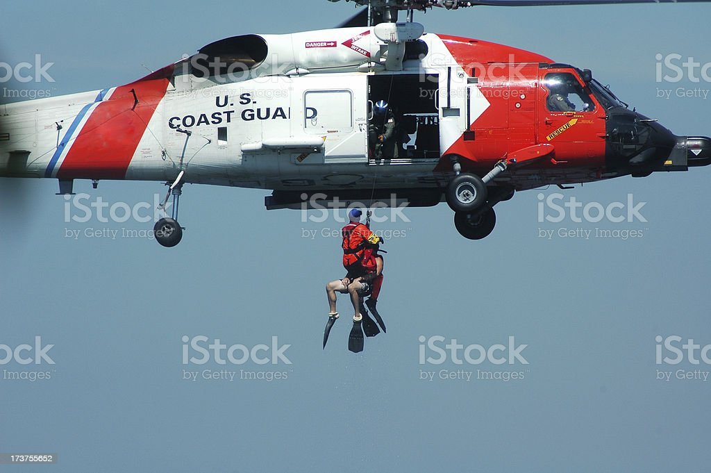Coast Guard Rescue royalty-free stock photo