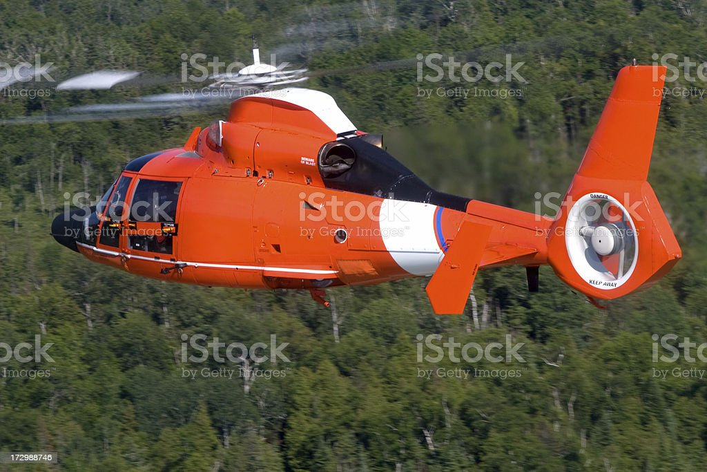 Coast Guard Search and Rescue Helicopter royalty-free stock photo