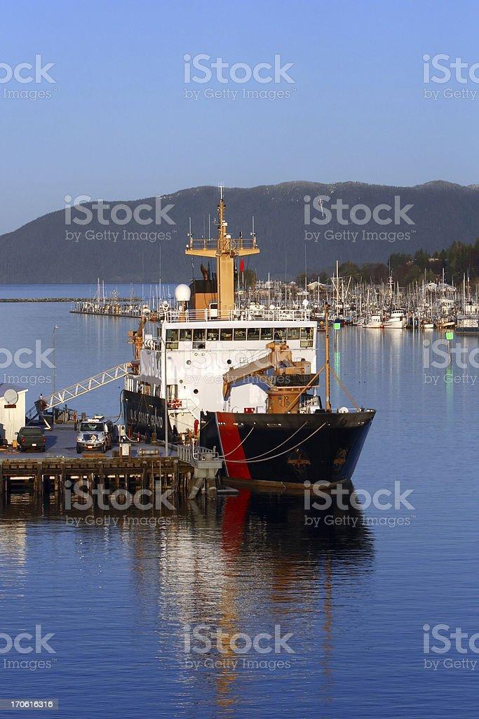 U.S. Coast Guard Ship stock photo