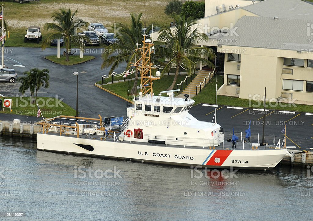 US Coast Guard ship royalty-free stock photo