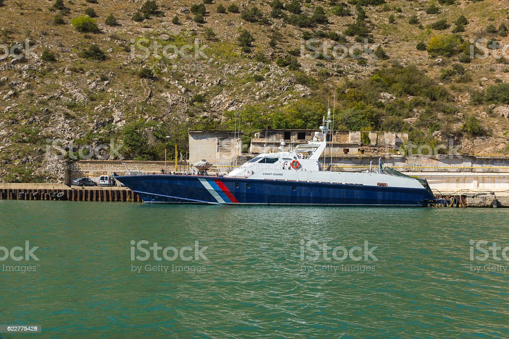 Coast Guard ship. stock photo