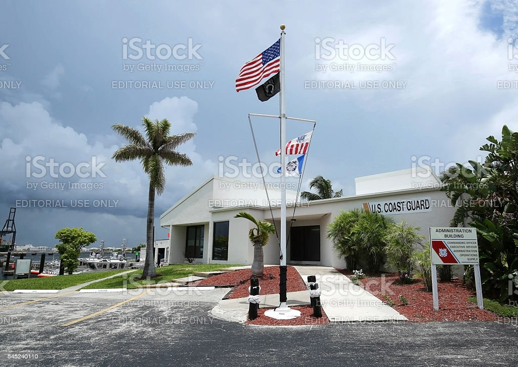 Coast Guard Station Fort Lauderdale Administrative Building stock photo