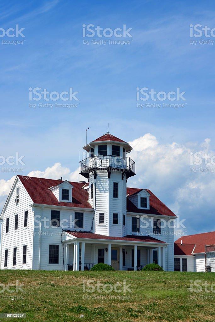 U.S. Coast Guard Station, Narragansett, RI stock photo