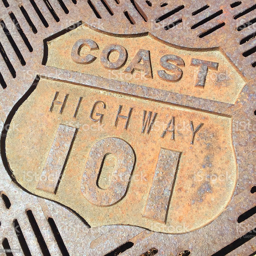 Coast Highway 101 stock photo