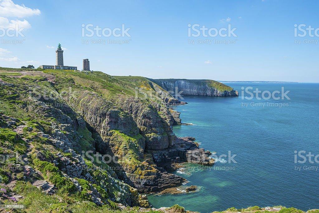 Coast in Britanny, France stock photo
