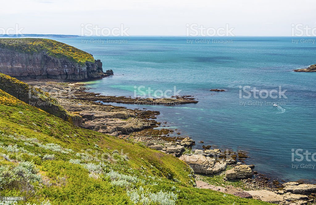 Coast in Britanny, France royalty-free stock photo