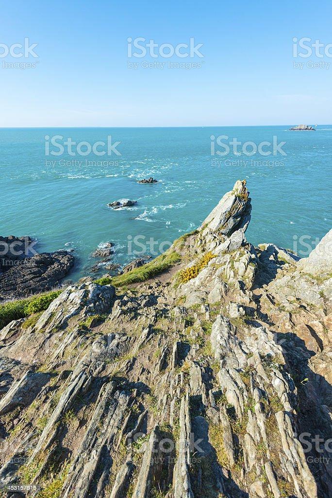 Coast in Britanny, France royalty-free stock photo