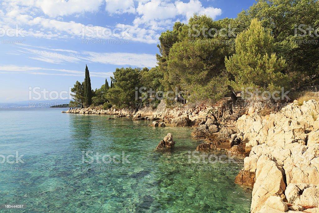 Coast in Croatia stock photo