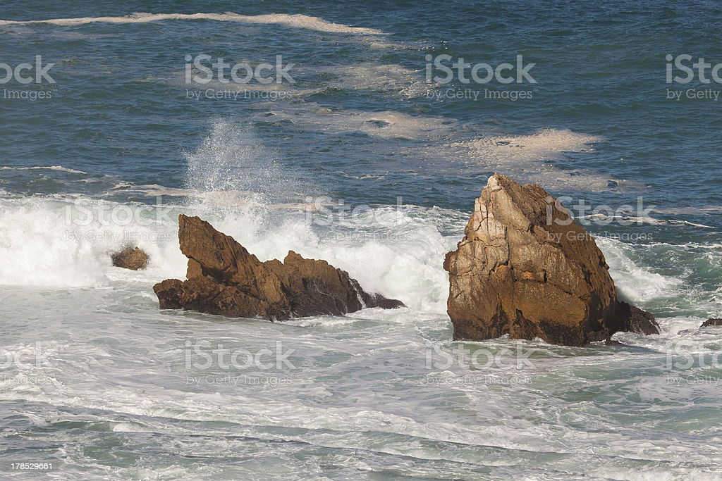 Coast in Liencres, Cantabria royalty-free stock photo