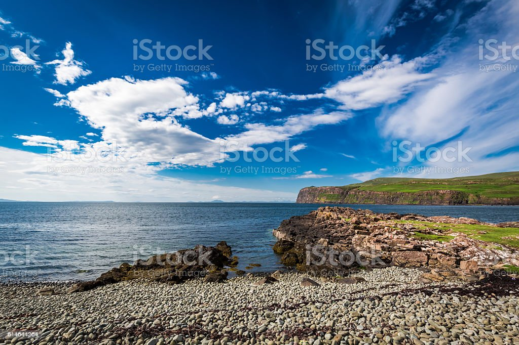 Coast in Scotland in the summer stock photo