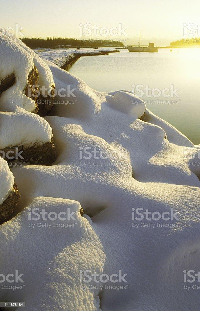 coast en invierno foto de stock libre de derechos