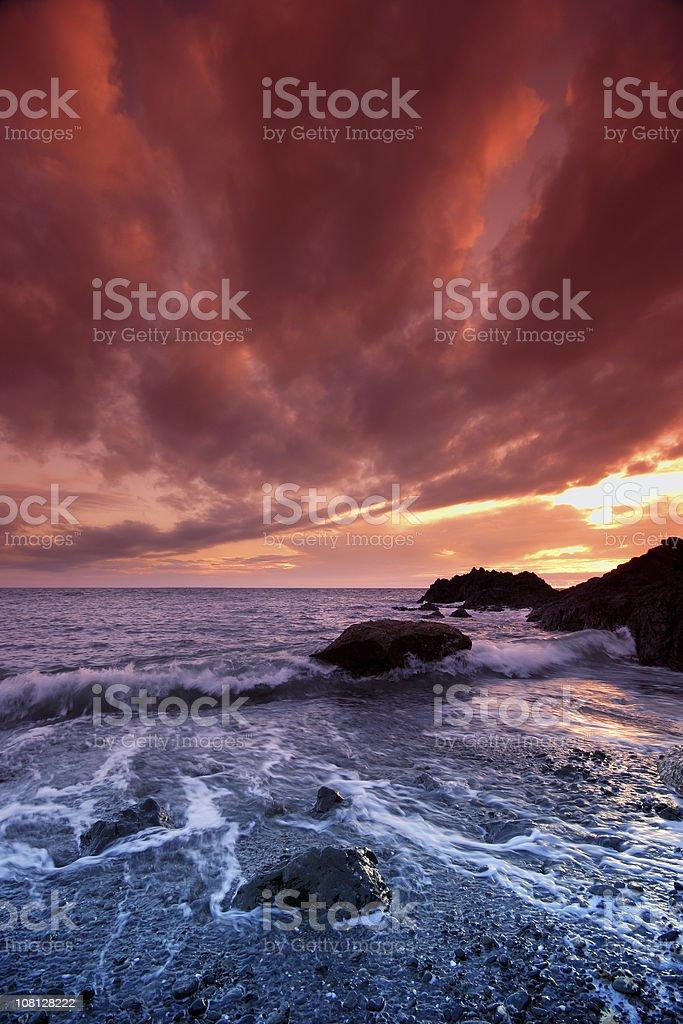 Coast line at Sunset royalty-free stock photo