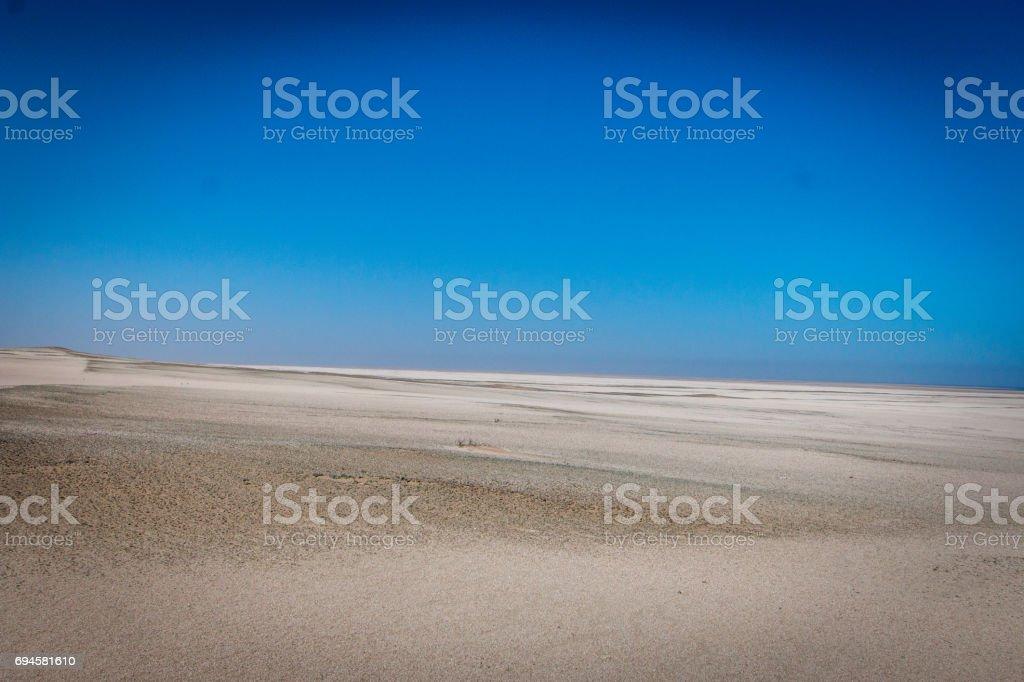 Coast line in the Namib desert. stock photo