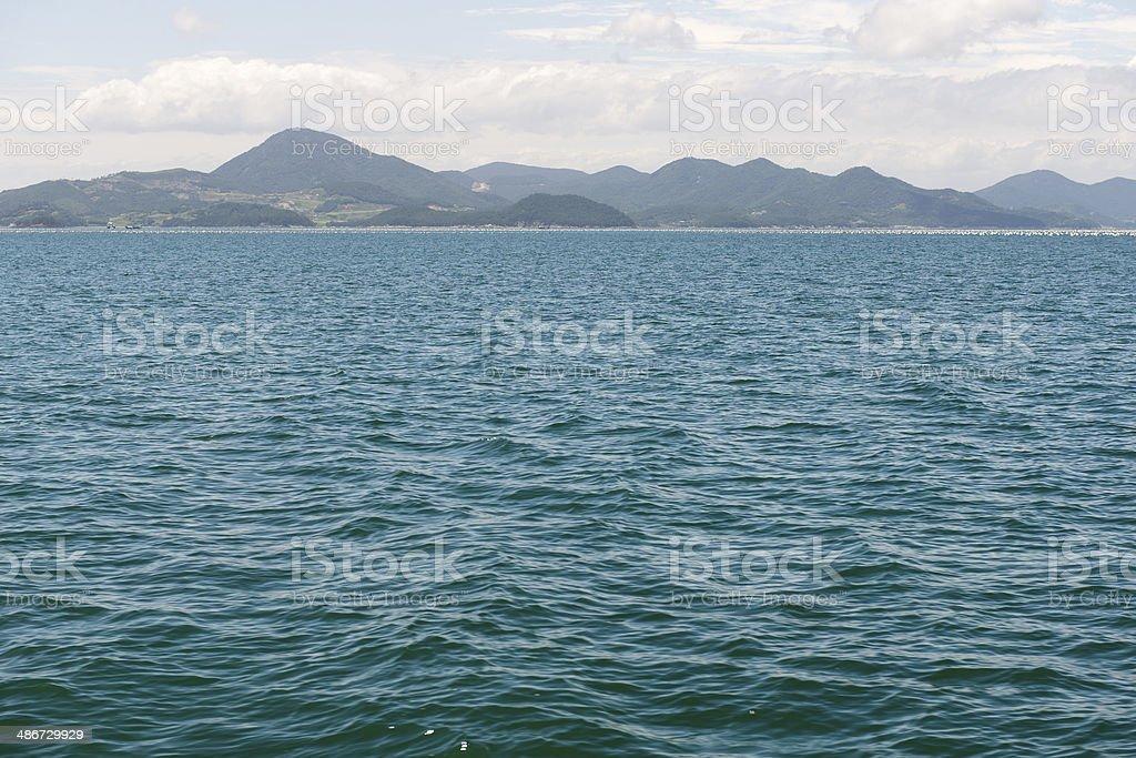 Coast line of South Korea royalty-free stock photo