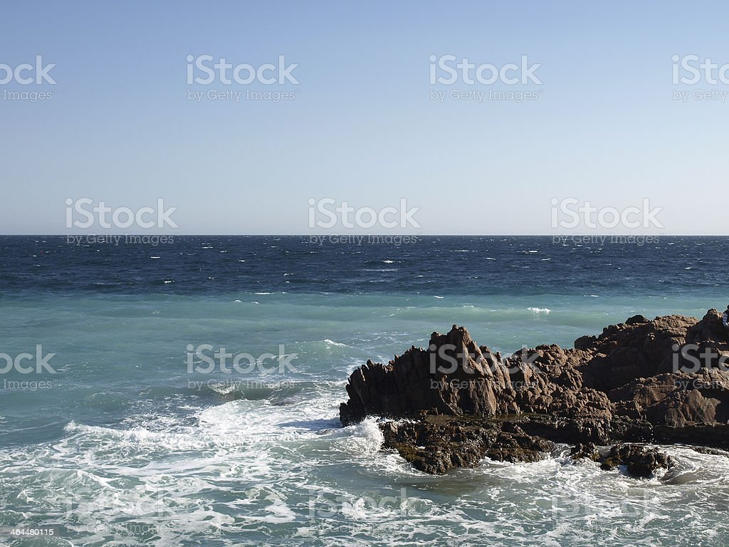 coast line with stone and waves royalty-free stock photo