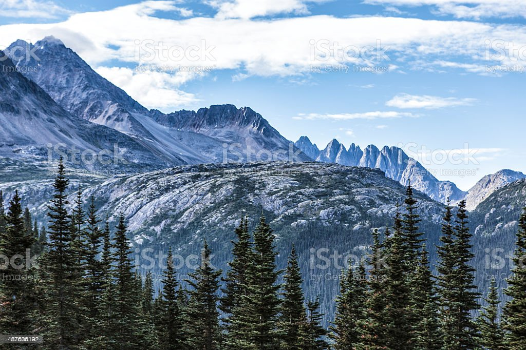 Coast Mountains near Skagway, Alaska stock photo