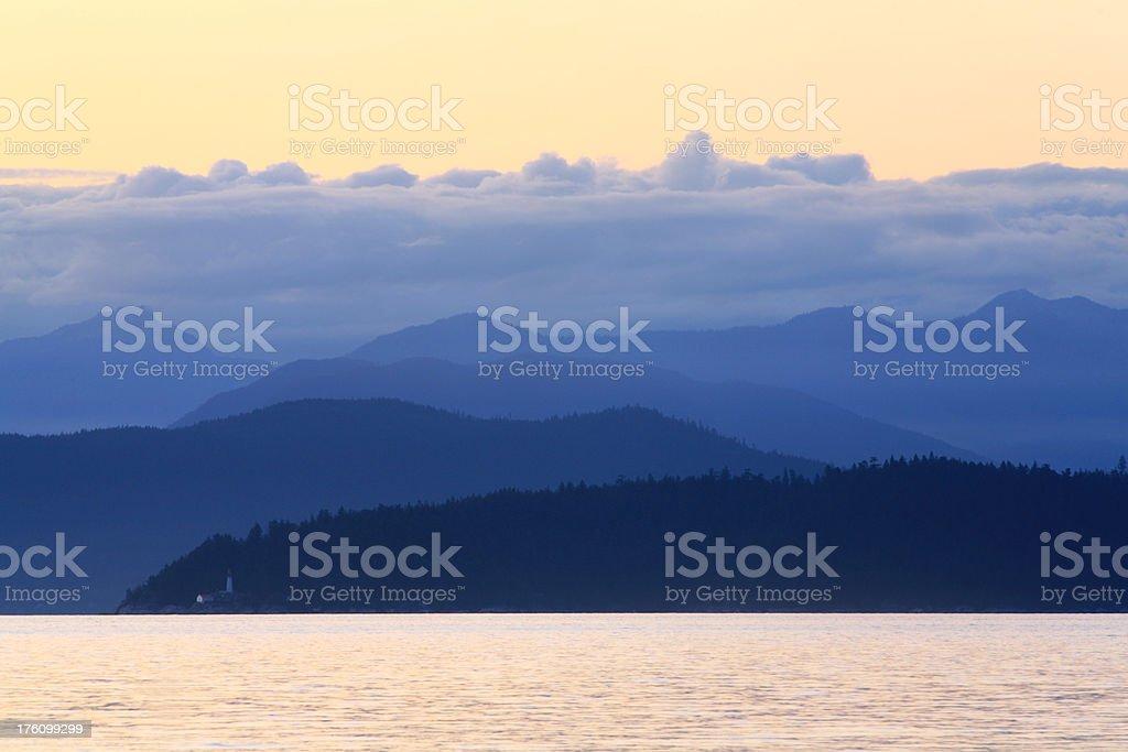Coast Mountains of British Columbia stock photo