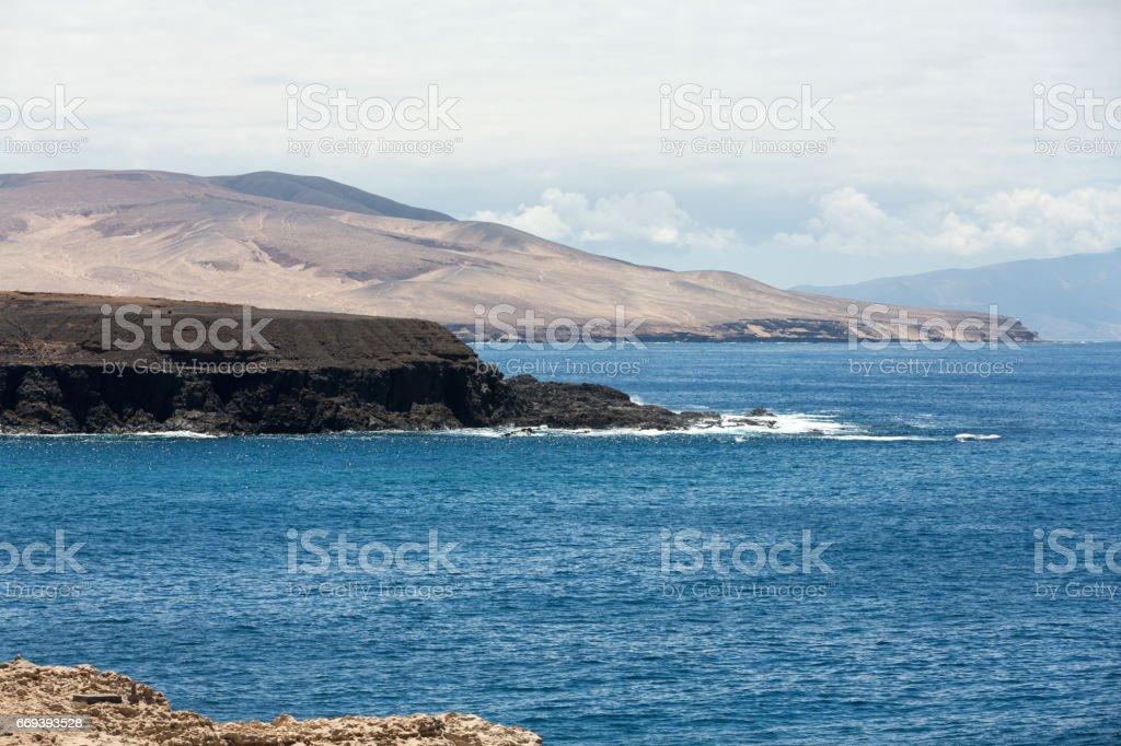 Coast near Ajuy village on Fuerteventura island in Spain stock photo