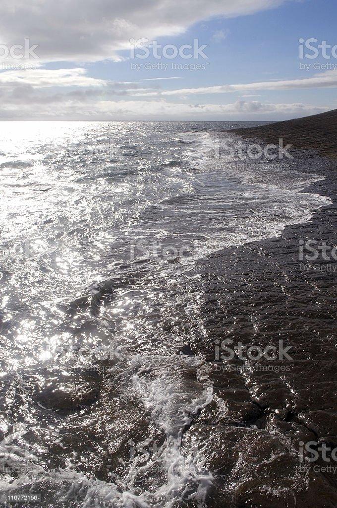 Coast near Doolin, County Clare, Ireland royalty-free stock photo