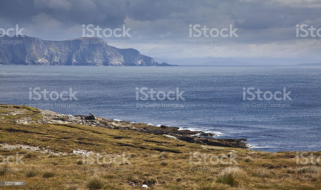 Coast of Achill Island stock photo