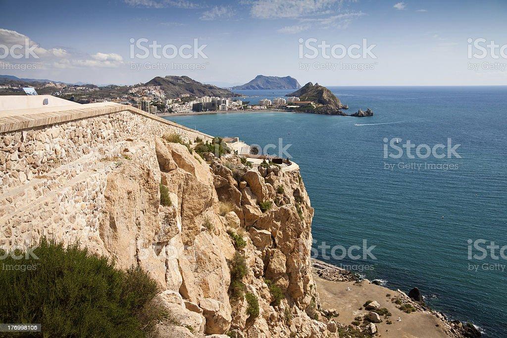 Coast of Aguilas stock photo