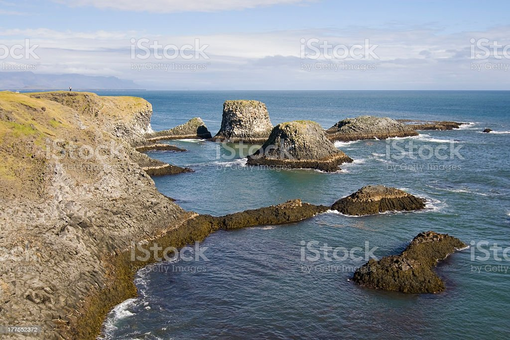 Coast of Arnarstapi royalty-free stock photo